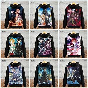 separation shoes 6bc0d 283f1 Details about Anime Sword Art Online Kirito/Asuna/Sinon Unisex Hoodie  Pullover Coat Cos#EB-248