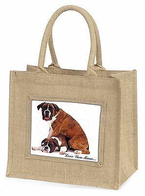 Boxer Hunde 'Liebe, die Sie Mama' Große Natürliche Jute-einkaufstasche