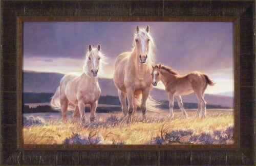 GOLDEN GLORY by Nancy Glazier 18x28 FRAMED ART Print HORSE WESTERN S//N L//E