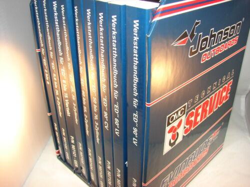 2-250 Modelljahr ED 1996 neuwertig Mod JOHNSON EVINRUDE Werkstatt Handbuch v