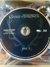 Game of Thrones Season 1 blu-ray disc 3 Replacement Disc blu-ray ONLY