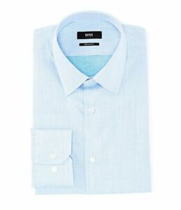 HUGO-BOSS-ENZO-US-BLACK-LABEL-DRESS-SHIRT-REGULAR-FIT-POINT-COLLAR-BLUE-NWT