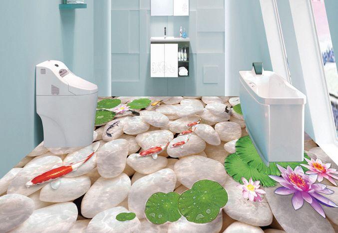 3D pesce delle piante Pavimento Foto Wallpaper Murales Muro Stampa Decalcomania