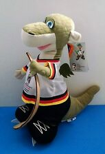 "2010 IIHF World Championship Hockey Skoda Urmel Dragon Mascot 17"" Plush w/TAGS!"