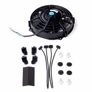 "7/"" Universal Push//Pull Radiator Slim Fan kit+Black 800ml Reservoir Coolant Tank"