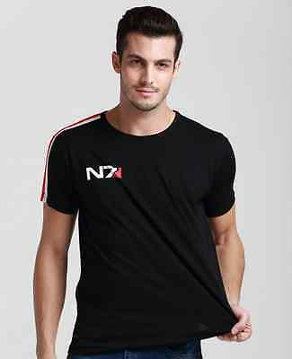 New Mass Effect 3 N7 RPG Cosplay Black Loose round collar cotton T-Shirt Costume