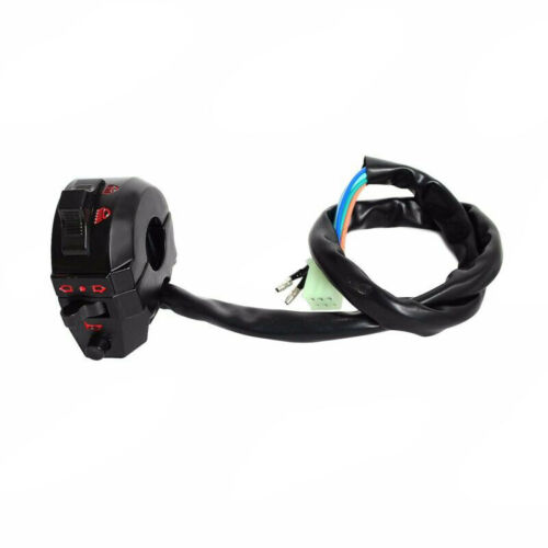 """Motorcycle 7//8/""""Handle Bar Control Horn Left Switch Turn Signal Light Hi-Low Beam"""