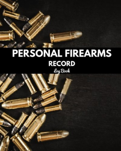 Black Inventory Personal Firearms Record Log Book Acquisition /& Disposition