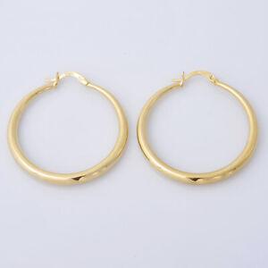 14K-Yellow-Gold-Hoop-Earrings-For-Women-Jewelry-Gifts-Dangle-Drop-Earring