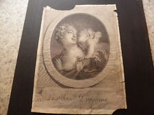 1770.gravure le baiser dangereux.Fragonard.