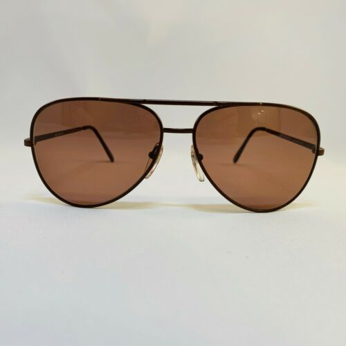 Vintage Girard Aviator 565 Brown Sunglasses 80's
