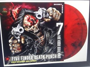 Five-Finger-Death-Punch-And-Justice-for-None-Red-Black-Marbled-2-Vinyl-LP-NEU