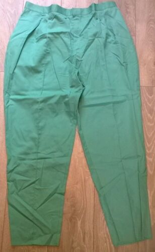 ladies healthcare nurse vet light green trousers SIZE 16 New work etc HS28