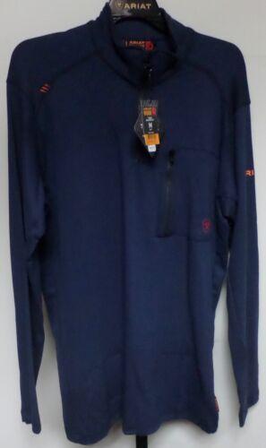 A Ariat Blu Fiamma 10012259 Camicia Navy Uomo Maniche Lunghe Resistente Nuovo 06R7U0n