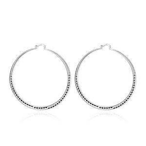 Silver-hoop-earrings-Big-Huge-3-034-wide-7-8cm-big-thin-2mm-wire-hoops-lightweight