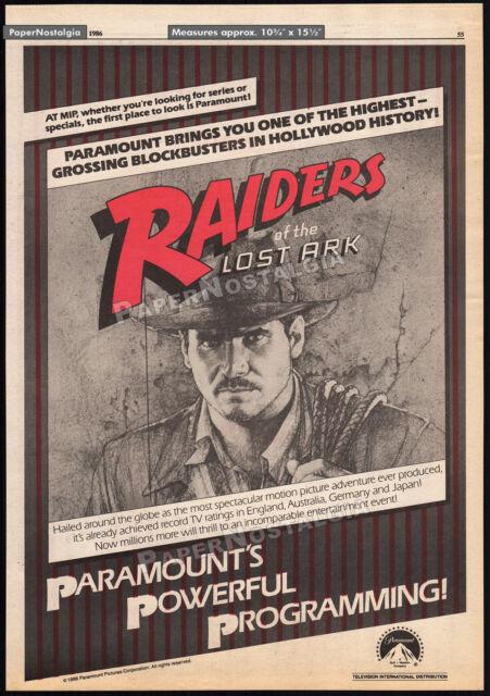 RAIDERS OF THE LOST ARK__Original 1986 Trade AD promo / poster__STEVEN SPIELBERG