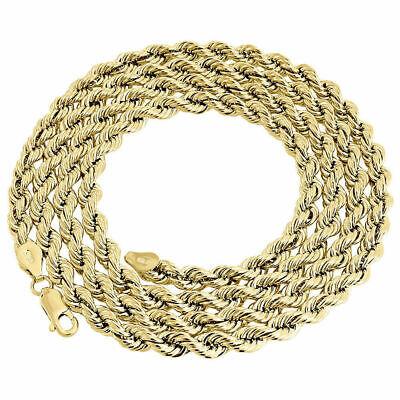 10k Gelbgold Herren Oder Damen Diamantschliff Seil-kette 5mm 20-30