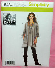 Uncut Simplicity Sz XXS-XXL Loose Fit Tunic Top & Knit Slim Pants Pattern 1543