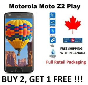 For-Motorola-Moto-Z2-Play-Tempered-Glass-Hard-Screen-Protector-Cover