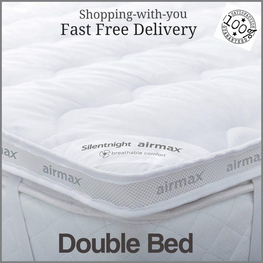 Silentnight Luxury double Bed Größe Mattress Topper Matress Comfort Anti Allergy