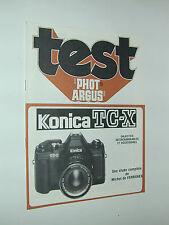 TEST PHOT ARGUS KONICA TC-X tout sur cet appareil photo photographie en francais