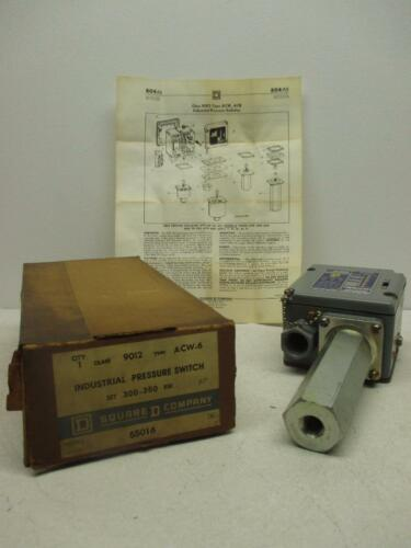 Square D 9012 ACW-6 300-350PSI Industrial Pressure Switch