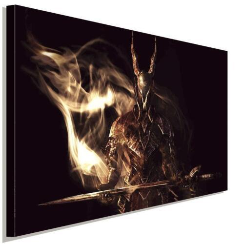 Dark Souls Kämpfer Sepia AK Art Bilder Premium Kunstdruck Leinwandbild Wandbild