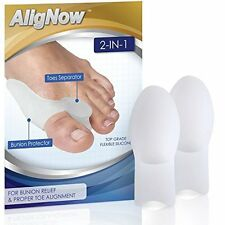 2 Bunion Pads Relief Pack, Toe Spreaders - For Pain Relief & Proper Alignment