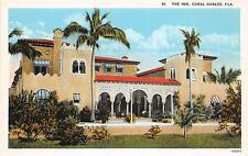 B43/ Coral Gables Florida Fl Postcard c1915 The Inn Hotel Building 13