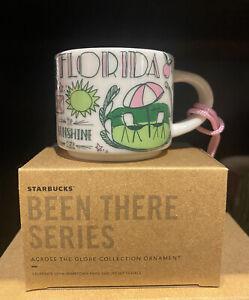 Starbucks Florida Ornament Mini Mug 2 Oz Been There Collection With Box SKU NEW