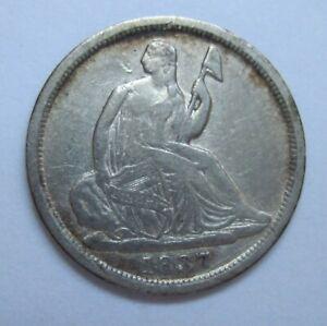 1837-Liberty-Seated-Half-Dime-No-Star-Variety-1-VF