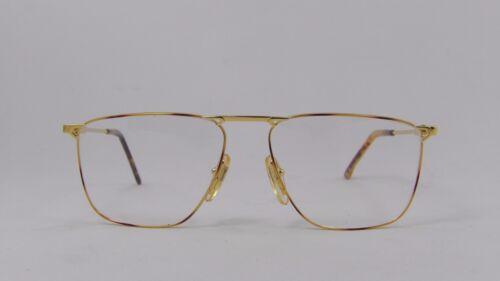 Alaska Adventure 86 Large Thin Rectangular Metal Eyeglasses 56//15 Frames Italy
