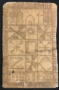 Square-Magic-or-Tablet-Votive-Stone-not-Identified-Africa-Pictograms