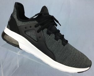 4f807c72937592 Puma Electron Street Knit 367705 01 Black Grey Running Shoes Mens ...