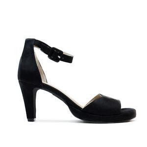 Woman-Vegan-Sandal-Slim-Heel-Peep-Toe-Ankle-Strap-Ecological-Black-Micro-Suede