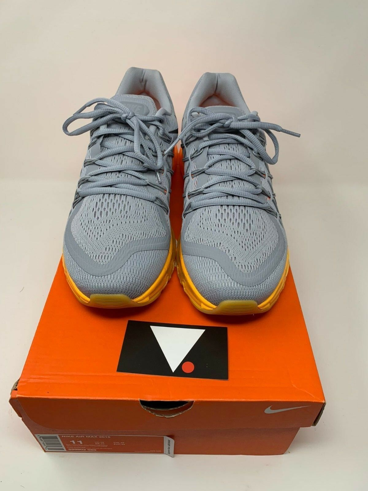 Nike Air Max 2015 Wolf Grey Total orange  698902 080 REACT PRESTO PEGASUS