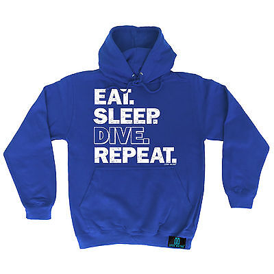Gift for Him Dad Birthday Eat Sleep Dive Repeat Scuba Diving Hoodie