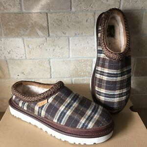e3be4f51a4d Details about UGG TASMAN BRAID PENDLETON PLAID BROWN SHEEPSKIN SLIPPERS  SHOES SIZE US 10 MENS