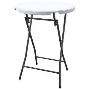 stehtisch klapptisch bistrotisch tisch klappbar kunststoff wei rund 80 cm ebay. Black Bedroom Furniture Sets. Home Design Ideas