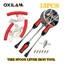 Motorcycle Bicycle Spoon Tyre Iron Kit Tire Change Lever Tool Amprim Protector Red