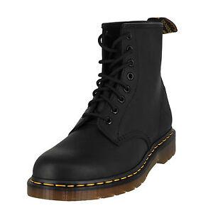 Men Dr. Martens Black 1460 Greasy 8 Eye BOOTS Shoes 1460 R11822003 ... ef4d12d78123
