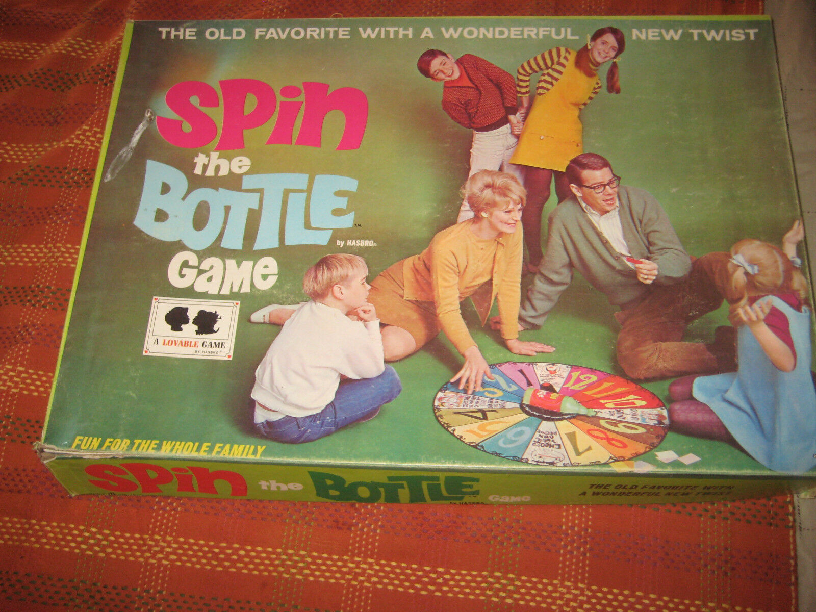 1968 Hasbro Spin The bottle Game Complete