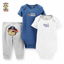 Carter's 3-piece Turn Me Around Set Blue Pirate 3 mos Authentic & Brand New