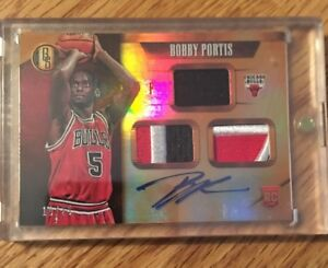 2015-16-Panini-Gold-Standard-Rookie-Bobby-Portis-AUTO-TRIPLE-PATCH-RC-10-25