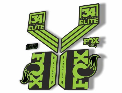FOX 34 Elite Performance 2017-18 Fork Suspension Factory Decal Sticker Green
