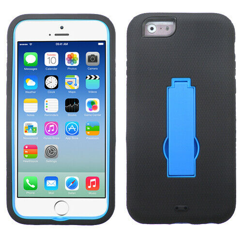 Dark Blue Black Symbiosis Stand Phone Protector Cover Case For Iphone 6s 6 For Sale Online Ebay