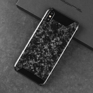 another chance 108ab e8d9d Details about Real Carbon Fiber Forged Composite Mobile Phone Case Half  Cover For iPhone X