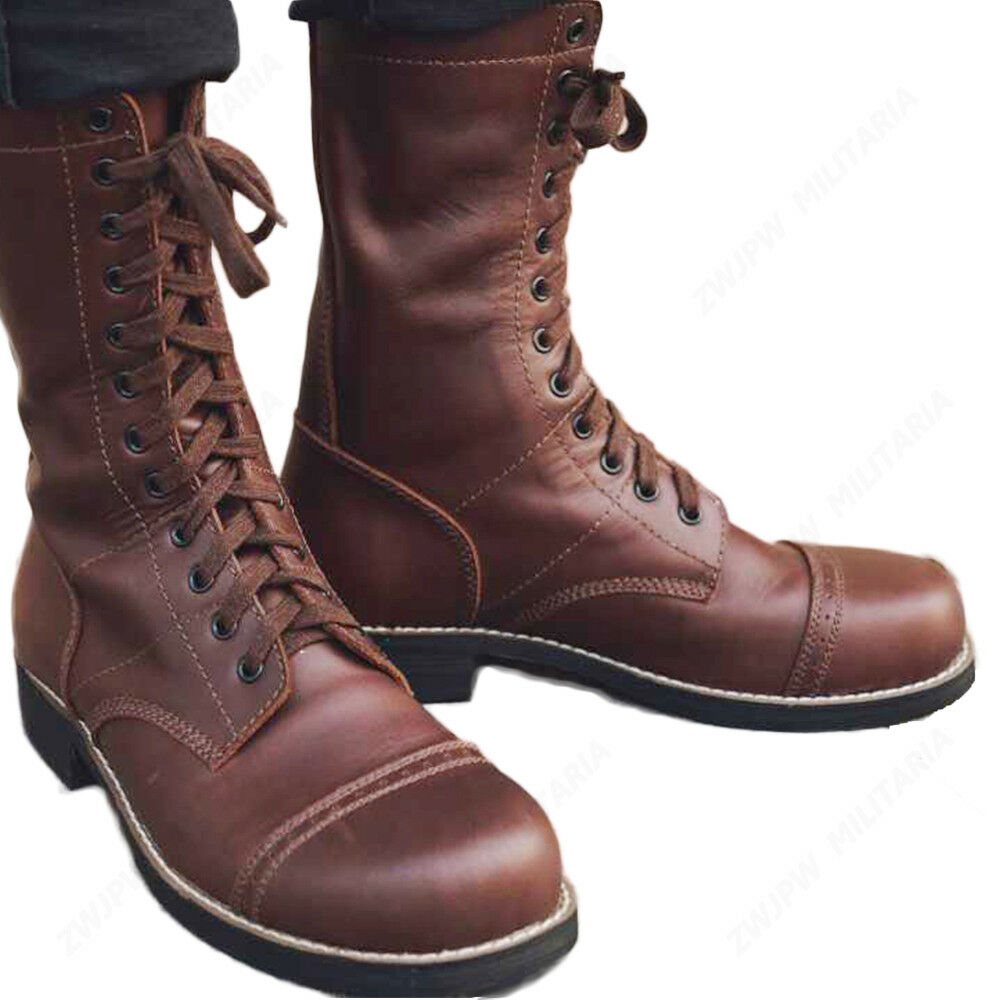 negozio outlet WWII US ARMY 101ST AIRBORNE PARATROOPER LEATHER LEATHER LEATHER SERVICE scarpe MILITARY stivali  vendite online