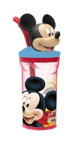Topolino Disney Bicchiere Tazza con Figura in 3D con cannuccia, gioco bambini