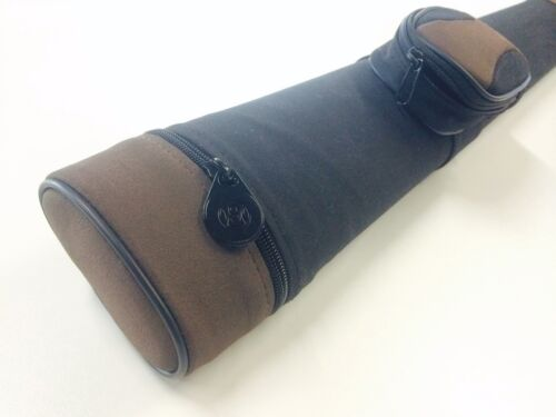 QUALITY Deluxe Suede Tube Pool Snooker Billiard Cue Case Holds TWO 2 Piece Cues
